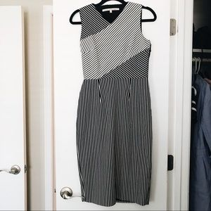 Rachel Roy black stripe dress